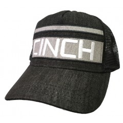 Cinch Black and White Trucker Cowboy Cap