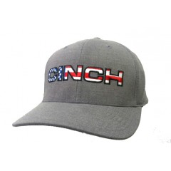 Cinch Grey American Flag Flexfit Cowboy Cap