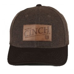 Cinch Brown Flex Fit Cowboy Cap