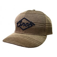 Cinch Brown and Navy Logo Snap Back Cowboy Cap