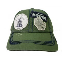 Cruel Girl Ladies Olive and Blue Adjustable Cap