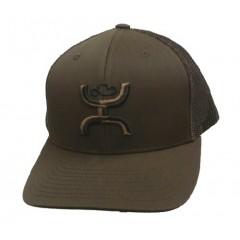 HOOey Chi Brown Snap Back Cowboy Cap