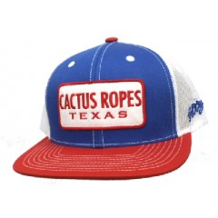 HOOey Cactus Ropes Blue, Red, and White Trucker Cowboy Cap