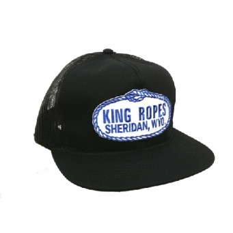 King Ropes Cowboy Cap Black Mesh Back Trucker Cap