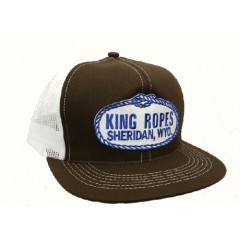 King Ropes Cap Brown and White Mesh Back Trucker Cap