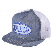 King Ropes Cap Denim and White Mesh Back Trucker Cap