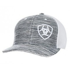 Ariat Grey Heather and White Snap Back Cowboy Cap