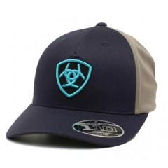 Ariat Navy Snapback Cowboy Cap