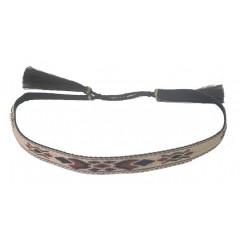 M&F Multicolored Black Horse Hair Tassel Hatband
