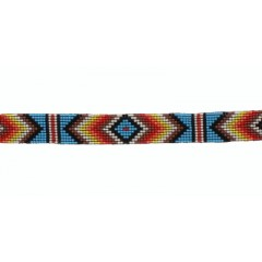 M&F Twister Muticolored Beaded Hat Band
