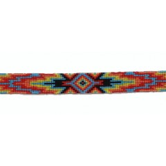 M&F Twister Multicolored Beaded Hat Band
