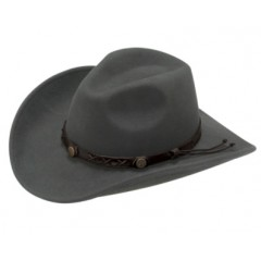 Twister Dakota 100% Wool Crushable Cowboy Hat In Graphite
