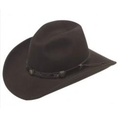 Twister Dakota 100% Wool Kids Crushable Cowboy Hat in Brown