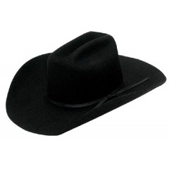 "Twister Kids Black Cattleman Crown 4"" Brim Felt Cowboy Hat"