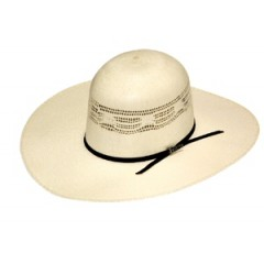 "Twister Bangora Open Crown 4 1/4"" Brim  Straw Cowboy Hat"