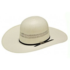 "Twister Bangora Open Crown 4 1/2"" Brim Straw Cowboy Hat"