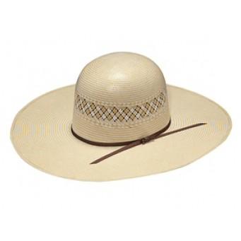 "Twister Two Tone Whiskey Open Crown 5"" Brim  Straw Cowboy Hat"