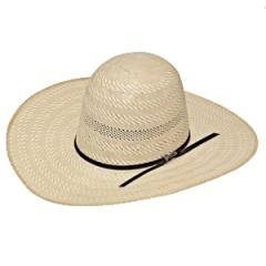 "Twister Shantung 20X Open Crown 4 1/4"" Brim Straw Cowboy Hat"
