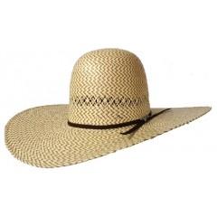 "Twister Two Tone Open Crown 5"" Brim Straw Cowboy Hat"
