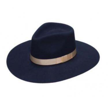 Twister Ladies Pinch Front Navy Wool Cowboy Hat