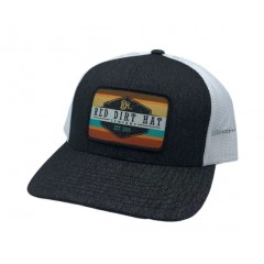 Red Dirt Hat Co. Army Sunset Heather Black/White Cowboy Cap
