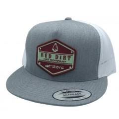 Red Dirt Hat Co. Arrow Head Heather Grey / White Snapback