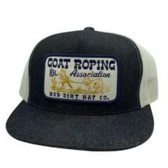 Red Dirt Hat Co. Goat Roping Black Denim Snapback Cowboy Cap