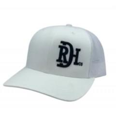 Red Dirt Hat Co. RDHC Brand White / Black Snapback Cowboy Cap
