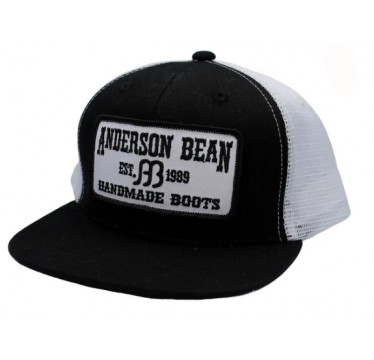 Anderson Bean Black/White Youth Snapback Cowboy Cap