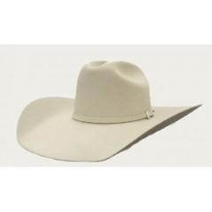 """Resistol Cowboy Hat 6X Midnight 4 1/4"""" Brim In Silverbelly Felt Cowboy Hat"""