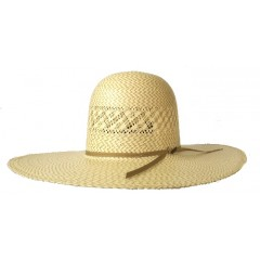 Resistol Cowboy Hat 20X Two Tone Twin V Open Crown Straw Cowboy Hat
