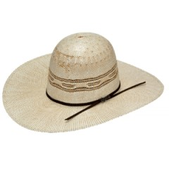 "Twister Cowboy Hat by M&F Bangora Open 4 1/4"" Brim Straw Cowboy Hat"