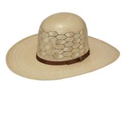 "Twister Shantung 10X Open Crown 4 1/4"" Brim Straw Cowboy Hat"