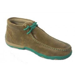 Womens Twisted X Driving Mocs in Brown/Turquoise