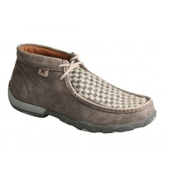Twisted X Grey Womens Driving Moccasins